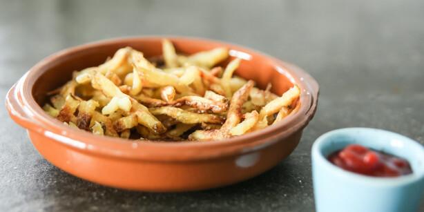 Pommes frites: Veldig gode, og du lager dem i mikrobølgeovnen. Foto: Øivind Lie-Jacobsen