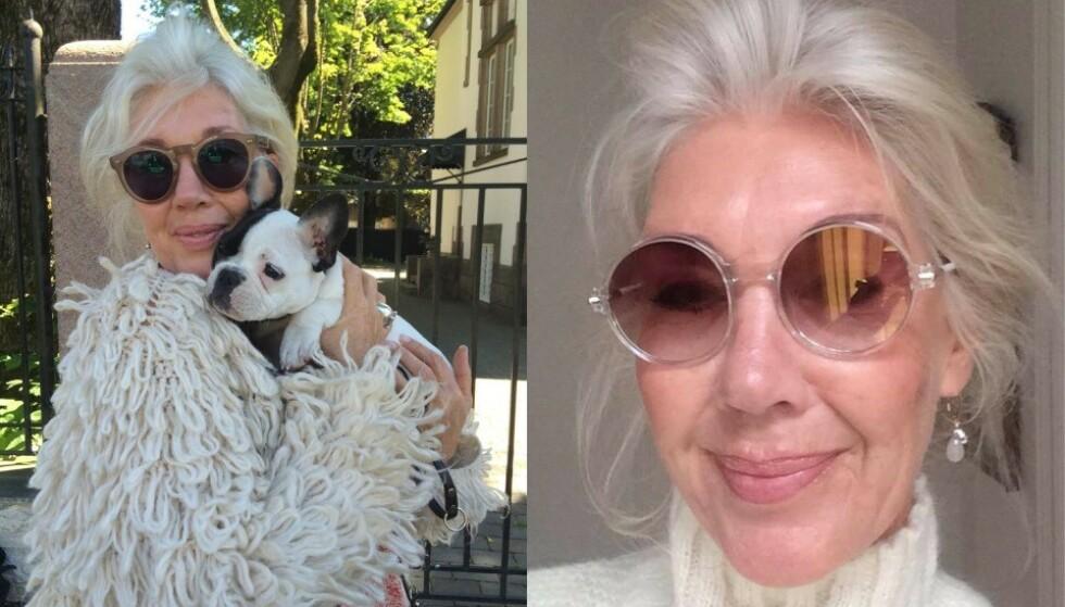 Makeup-artist og stylist Hilde Ottem slår et slag for flere norske kvinner med naturlig grått eller hvitt hår. Foto: Privat.