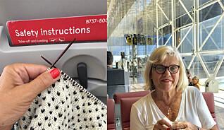 Det er lov med strikkepinner på flyet, men du kan få trøbbel