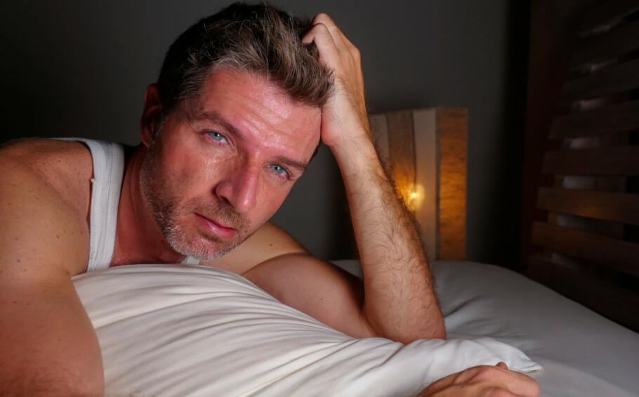 VARMT: Det kan være vanskelig å sove når soverommet er for varmt. Foto: Shutterstock. (Illustrasjonsbilde).