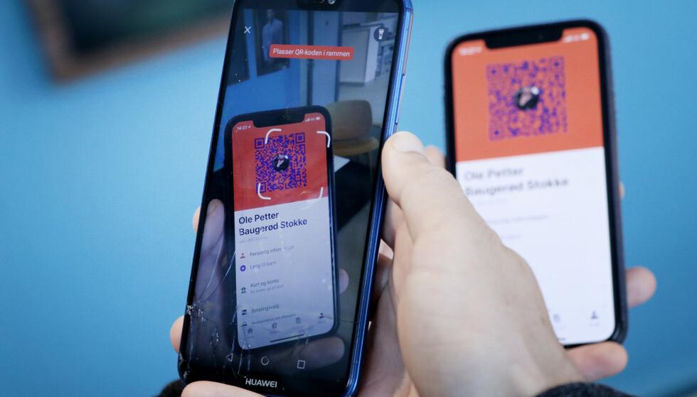<strong>QR-KODE:</strong> Med QR-koden slipper du å taste inn telefonnummer. Foto: Ole Petter Baugerød Stokke.