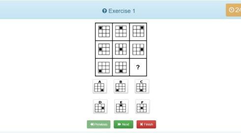 IQ-TEST: Slik ser en online IQ-test hos Mensa ut.
