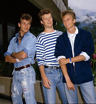 STOR TRIO: Morten Harket, Magne Furuholmen og Paul Waaktaar-Savoy var unge og fattige da de fulgte drømmen om å bli popstjerner. Her er de fotografert i 1987. Foto: NTB Scanpix