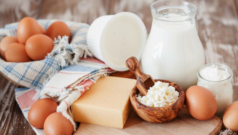 LANG HOLDBARHET: Egg og meieriprodukter er blant matvarene som holder seg mye lenger enn angitt holdbarhetsdato. Få flere gode tips i artikkelen under! Illustrasjonsfoto: NTB Scanpix.