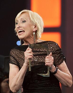 OVERRASKET: Karen-Marie var kanskje den eneste som ble overrasket da hun ble tildelt Gullrutens hederspris i 2011. Foto: Scanpix