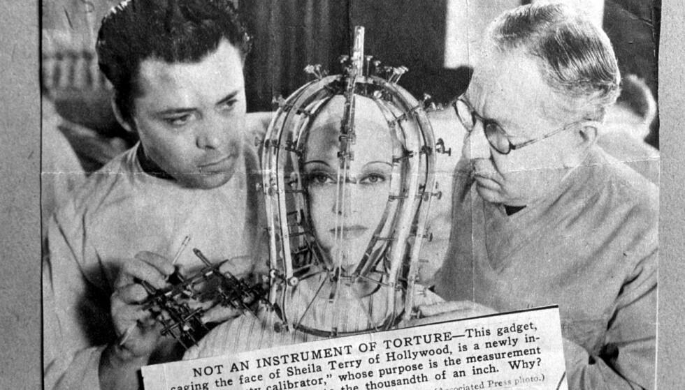 SYMMETRI: «The Beauty Micrometer» var ment å avsløre ujevne trekk i kvinnelige skuespilleres ansikter. Foto: NTB Scanpix
