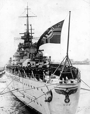 Scharnhorst lå for anker i Langfjorden, som i likhet med Kåfjord er en sidefjord til Altafjorden. Skipet ble angrepet av en britisk kampgruppe av skip 2. juledag 1943, 60 nautiske mil nord for Nordkapp. Bare 36 mann av besetningen ble reddet, mens over 1800 mann omkom. Foto: Scanpix