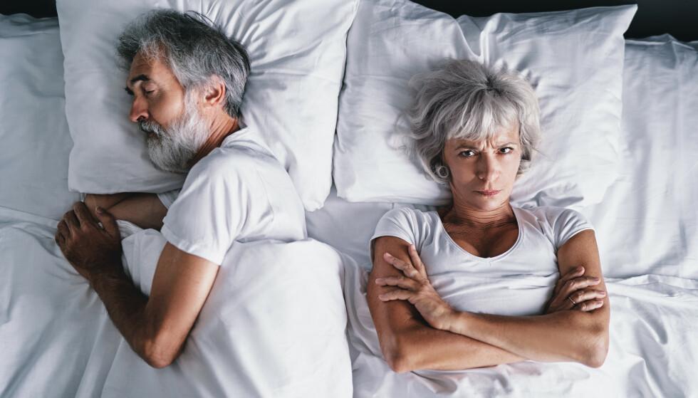 Stadig færre over 60 velger å bli i et dårlig forhold. Det handler ofte om at kvinner er blitt mer økonomisk uavhengig enn i tidligere generasjoner. Foto: Shutterstock