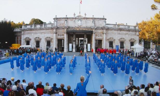 <strong>GYMSTEVNE I ITALIA:</strong> På Golden Age Gym – en såkalt gymnastrada – i Italia i 2012.