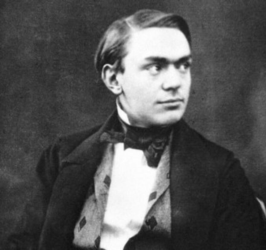 DEN UNGE ALFRED: Alfred Nobel som ung. Han forble ugift og barnløs og veldig, veldig rik. Foto: The Nobel Foundation
