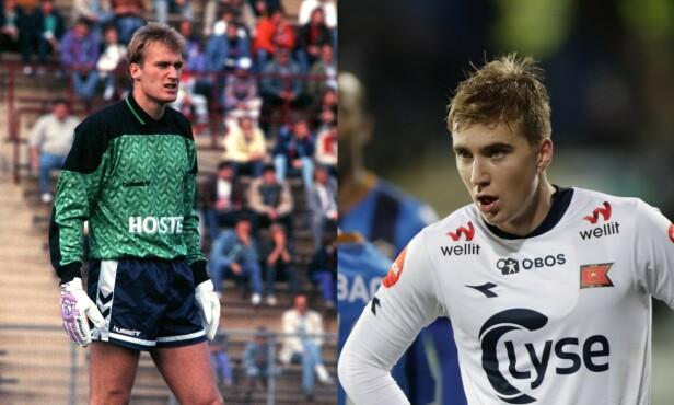 KEEPERKJEMPE: Erik Thorstvedt var norsk keeperlegende i blant annet Tottenham. Nå går sønnen Kristian i farens fotspor, men spiller på en annen kant av banen. Foto: NTB Scanpix