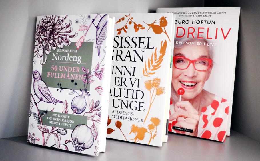 DET NYE ELDRELIVET: Det finnes en mengde litteratur om aldring på markedet nå. Foto: Ole Petter Baugerød Stokke