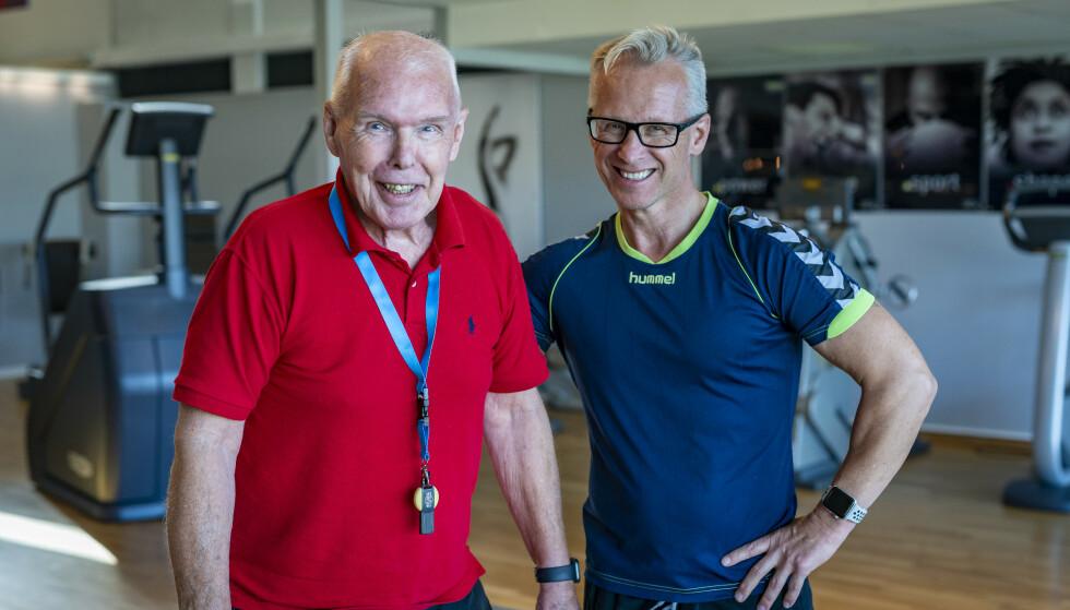 SAMSPILL: Stein Morten Lier er den personlige treneren til sin far, Leif A. Lier. Foto: Tore Fjeld