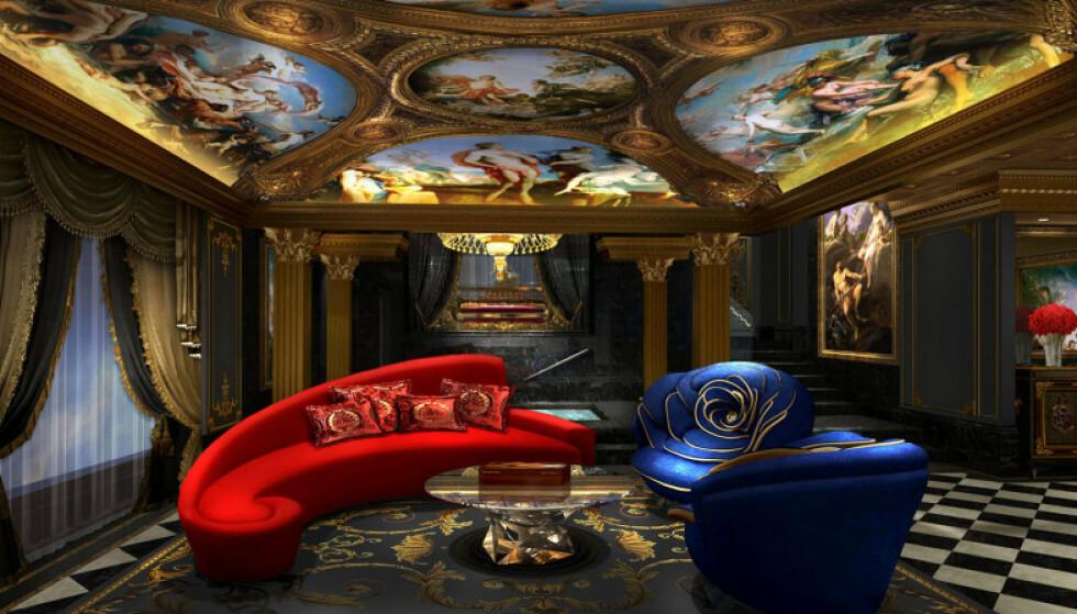 STUE: På The 13 kan du slappe av i en slik stue. Foto: The 13.