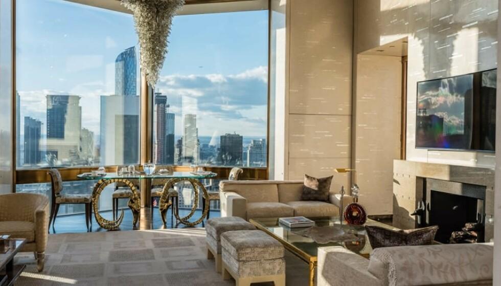 HØYT OPPE: Ty Warner Penthouse på Four Seasons Hotel byr på rimelig grei oversikt over New York. Foto: Four Seasons Hotel.