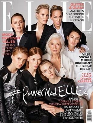 Ingmari Lamy pryder forsiden til svenske Elle sammen med en rekke andre kjente, svenske modeller