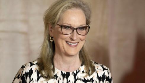 NATURLIG VAKKER: Meryl Streep (68) er stunning med gråstenk i de blonde lokkene. Foto: Scanpix