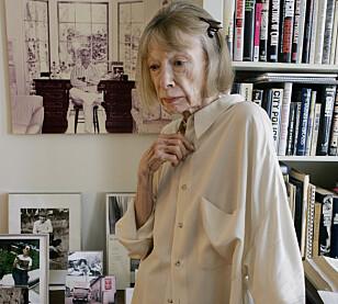 Joan Didion har bevart ektemannens kontor som det var da han levde. Her i kontoret hans i deres hjem i New York. Foto: NTB Scanpix