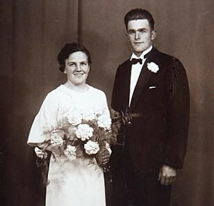 GIFTEMÅL: Inger og Olav Kojedahl giftet seg på gården Helset i Elverum 25. mai 1935. Foto: Privat
