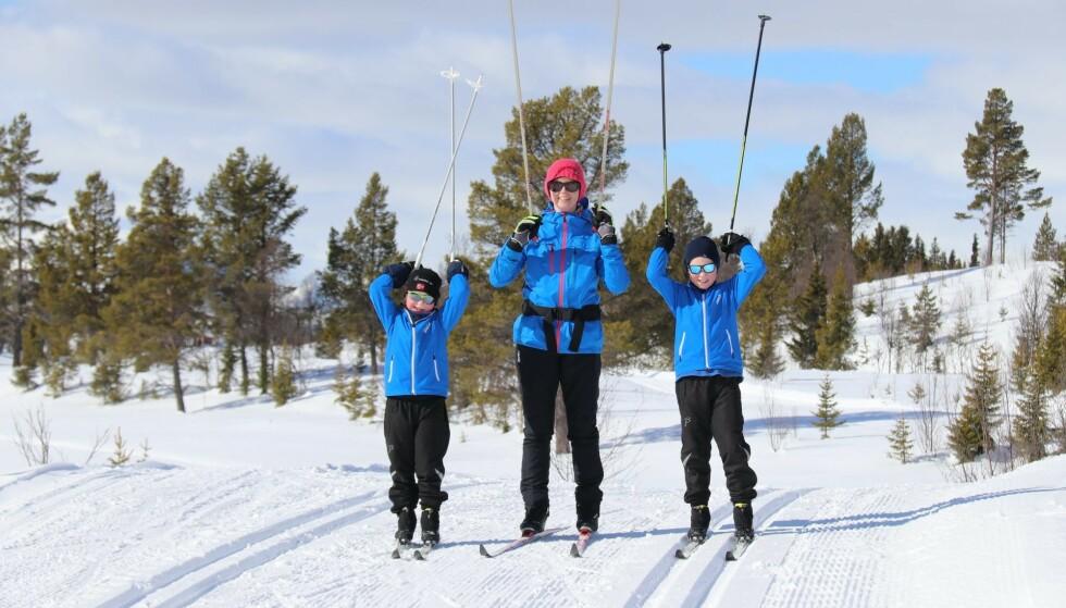 FAMILIETUR: Familien gledet seg ofte over fine turer i naturen. Foto: Privat