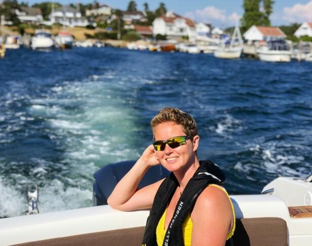 BÅTLIV: Ragnhild og familien hadde mye glede av mange båtturer. Foto: Privat