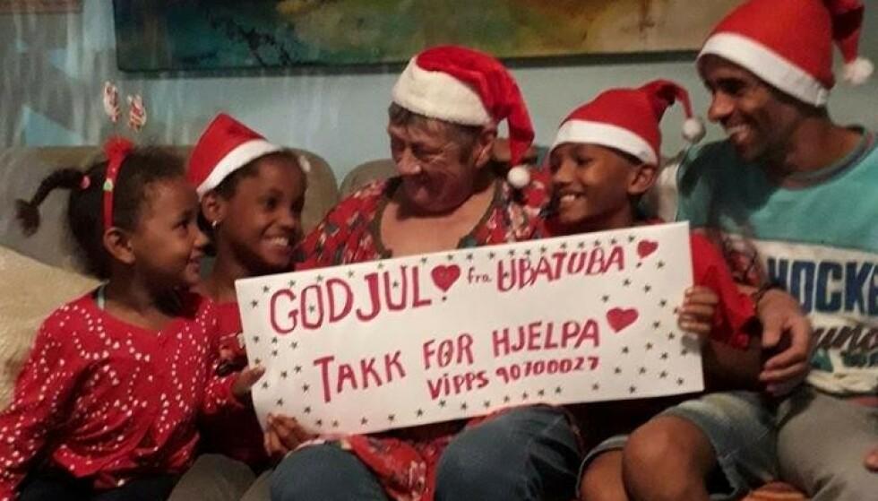 JULEKORTET: Sårbar og takknemlig familie i Brasil.