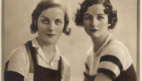 Diana Mitford og Nancy Mitford. Foto: Historia/REX/NTB/Scanpix