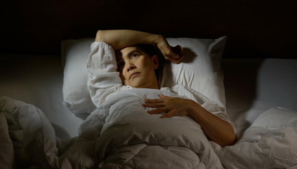 NATTENOIA: Tankene som kverner og får deg til å ligge søvnløs er oftest ikke av det lystige slaget. Det kan gi en vond sirkel av søvnløshet. Foto: Shutterstock/NTB Scanpix
