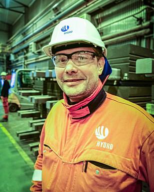 HR-sjef Eivind Torvik ved Hydro Husnes. Foto: Birgitte Hoff Lysholm