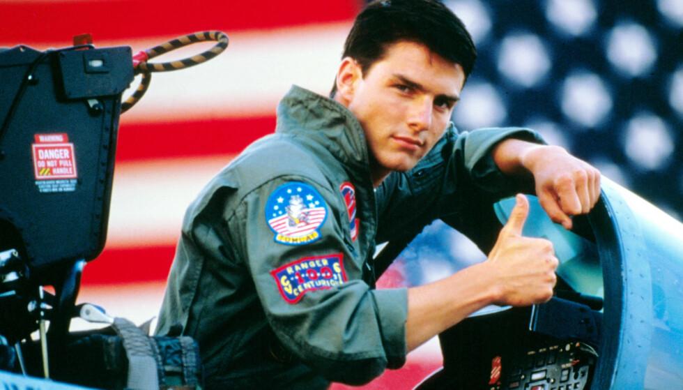 STJERNESTATUS: Top Gun ble Tom Cruise sitt store gjennombrudd. Rollen som jagerflypilot befestet hans status som stjerne. Foto: NTB Scanpix