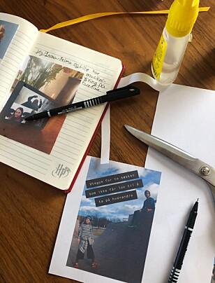 DOKUMENTASJON: Coronadagboka til Martine og Leona er ment som en dokumentasjon for ettertida. Foto: Privat