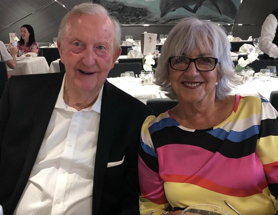 <strong>NY KJÆRLIGHET:</strong> Elsa Volkmer og Alf Kirksæther fant hverandre ved en tilfeldighet. Deres erfaring er at det er mulig å forelske seg hele livet. Foto: Privat
