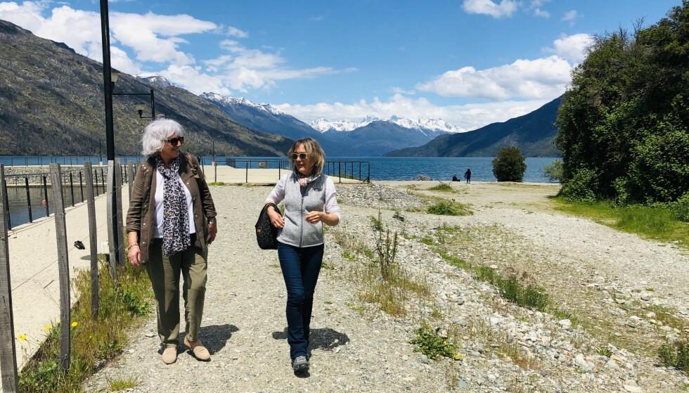 <strong>VAKKER NATUR:</strong> Elsa (81) har forelsket seg i den Argentinske byen Bariloche og naturen i området. Foto: Privat
