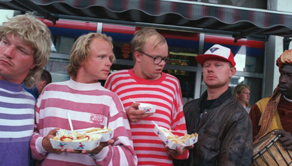 <strong>DEBUTEN:</strong> Bård Tufte Johansen og Harald Eia startet sin karriere med serien Lille Lørdag på NRK. Foto: NRK