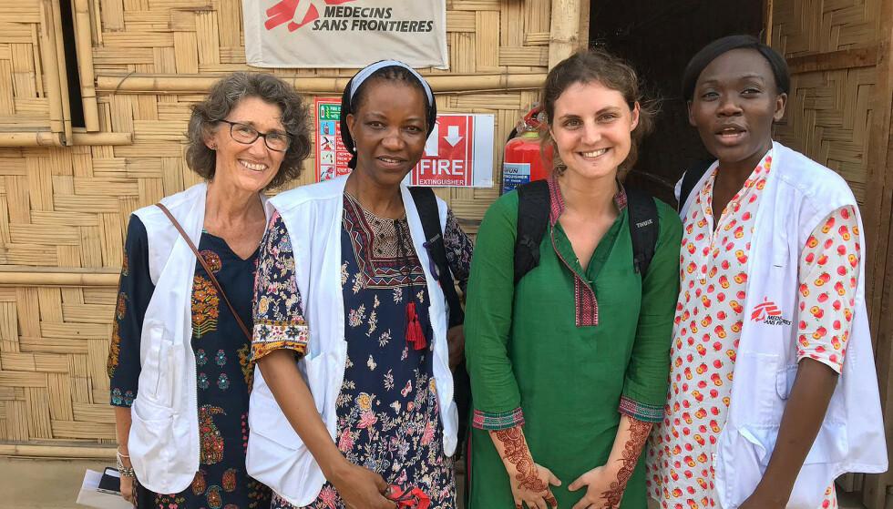 TEAMARBEID. Caroline Baardsen (til venstre) arbeider sammen med mange yngre mennesker i felt. - De gir meg energi, sier hun. Foto: Leger uten grenser
