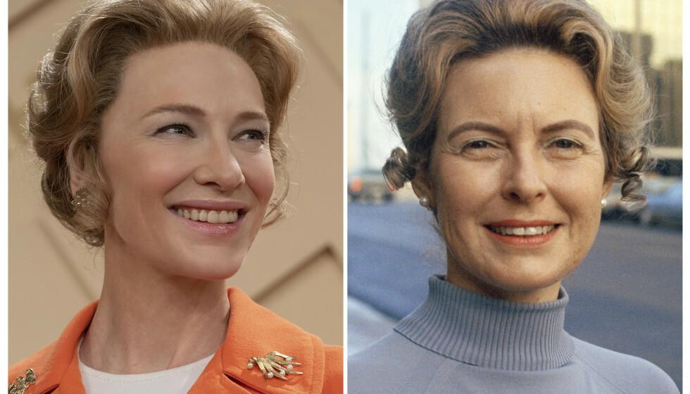 MRS. AMERICA: Cate Blanchett (til venstre) spiller Phyllis Schlafly i miniserien Mrs. America som i disse dager kan sees på HBO. Foto: AP/NTB Scanpix