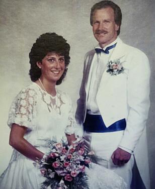 BRYLLUPSBILDET: Lisbeth og Gunnar giftet seg i 1986, men har vært sammen i 37 år. Foto: Privat