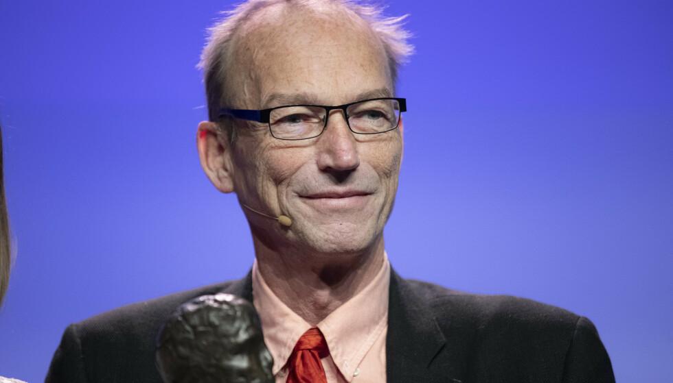 Thomas Hylland Eriksen avbildet da han mottok Akademikerprisen 2019. Foto: Berit Roald/NTB Scanpix