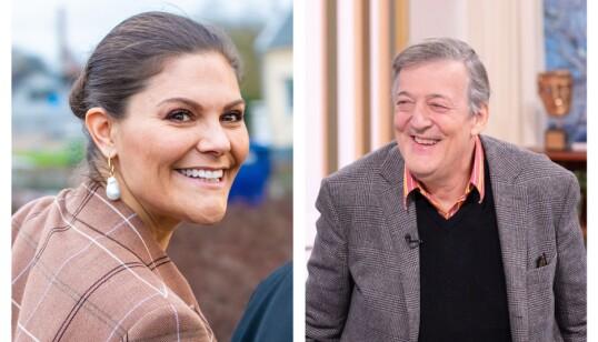ANSIKTSBLINDE: Sveriges kronprinsesse Victoria og den britiske skuespilleren Stephen Fry har begge fortalt om sin ansiktsblindhet. Lidelsen er spesielt vanskelig for kjente mennesker, som blir gjenkjent av andre men aldri kan si at det er gjensidig. Foto: NTB Scanpix