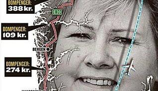 Dette kartet viser ikke hva du må betale i bompenger på norgesferie