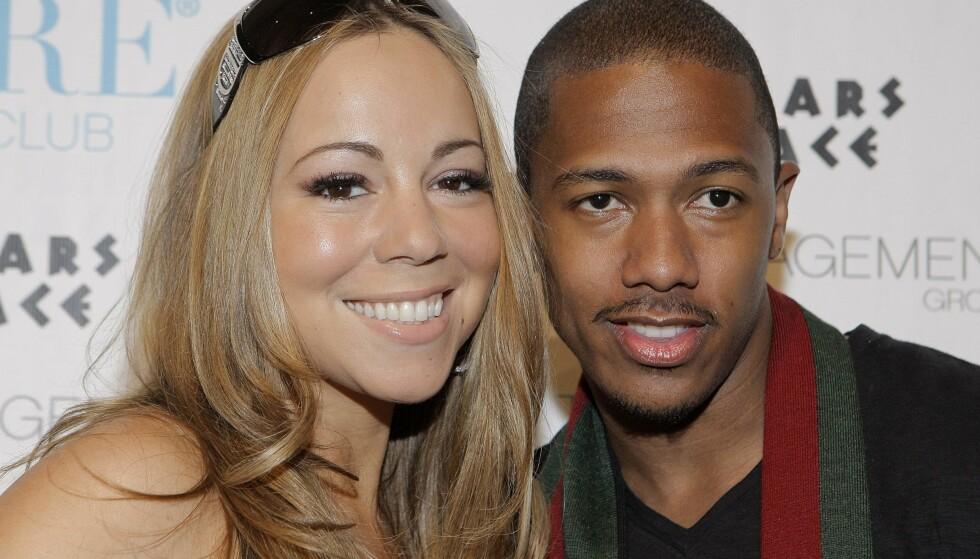Rapperen Nick Cannon var Mariahs andre ektemann. Her er de fotografert i hans bursdagsselskap på det kjente kasinoet og hotellet Caesars palace i Las Vegas i 2008. Foto: AP Photo/Jae C. Hong/NTB Scanpix