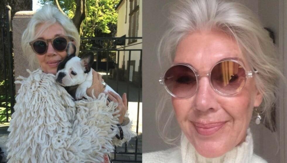 Stylist Hilde Ottem er det levende beviset på at grått hår slett ikke trenger å gjøre stilen fargeløs og grå! Foto: Privat