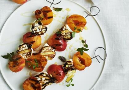 Grillspyd med marsmallows og aprikoser (4 porsjoner)