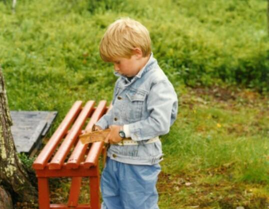 Hytteforfatter Helgerud har gode barndomsminner fra sine hytteferier som barn. Foto: Privat
