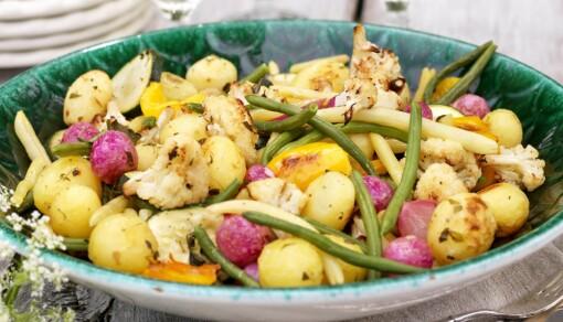 Lun potet- og blomkålsalat (6 porsjoner)
