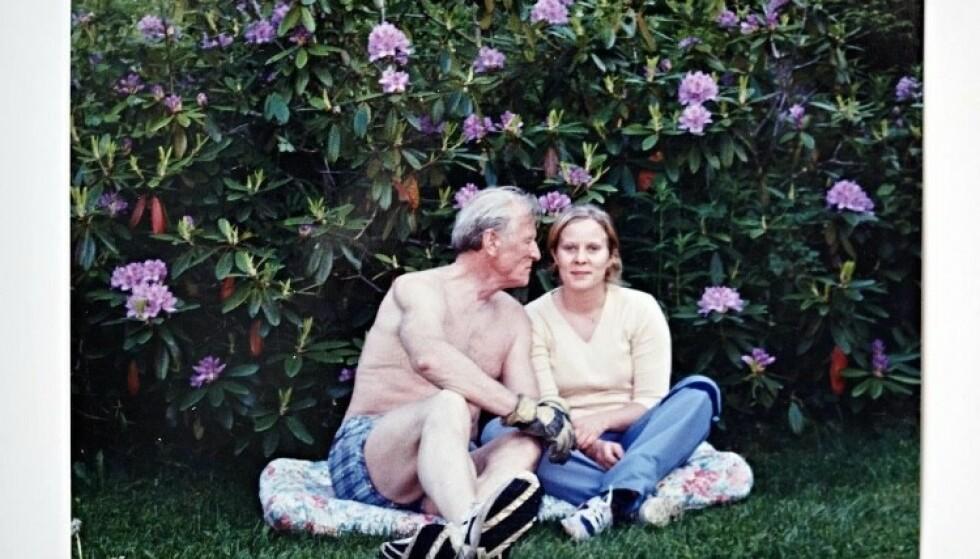 VANSKELIGE AVGJØRELSER: Hanne Nerlands far fikk Alzheimers. Nerland og søsknene hadde ingen fremtidsfullmakt å følge da faren ble syk. Ifølge Nerland var det spesielt vanskelig å vite når faren skulle flytte på sykehjem. Foto: Privat