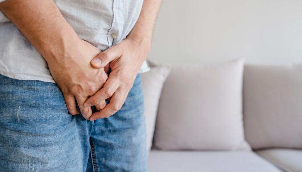RAMMER OGSÅ MENN: Problemer med urinlekkasjer og vannlating er like vanlig blant menn som blant kvinner. Foto: Shutterstock / NTB Scanpix