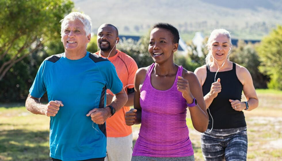 STORE HELSEFORDELER: Trening forebygger mot hjerte- og karsykdommer, kroniske sykdommer, noen former for kreft og overvekt. Foto: Shutterstock NTB Scanpix