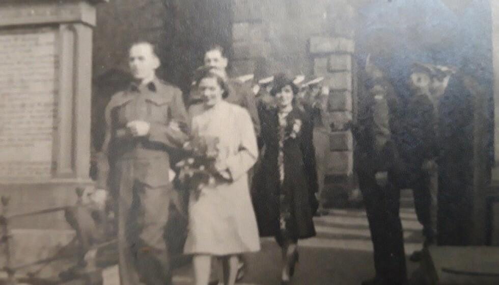 KRIG OG KJÆRLIGHET: Hans Georg Bratli giftet seg med sin skottske kone Helen Jane i byen Dumfries under krigen. Foto: George Michael Bratli