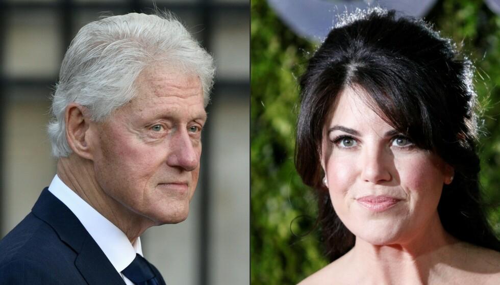 Tenker du på Bill Clinton, tenker du på Monica Lewinsky. Foto: AFP/Scanpix